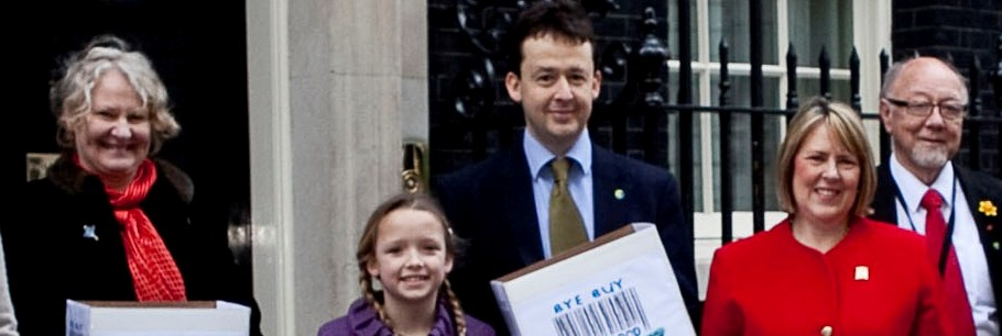 Presenting the Petition to Downing Street